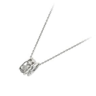 ネックレス レディース PINKY&DIANNE ホワイトゴールド ダイヤモンド 4月の誕生石 誕生日プレゼント ギフト