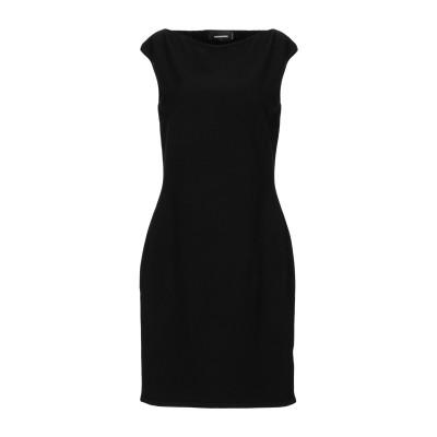 ディースクエアード DSQUARED2 ミニワンピース&ドレス ブラック XS レーヨン 70% / ポリエステル 30% ミニワンピース&ドレス