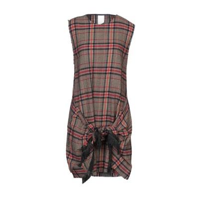 P_JEAN ミニワンピース&ドレス 赤茶色 40 ウール 59% / レーヨン 21% / ナイロン 20% / アセテート ミニワンピース&ドレス