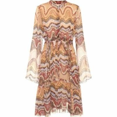 クロエ Chloe レディース ワンピース ワンピース・ドレス printed silk-crepon dress Multicolor