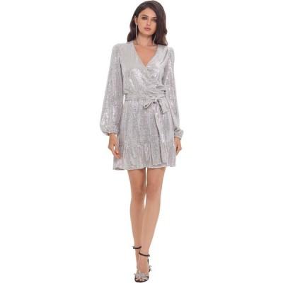 ベッツィアンドアダム Betsy & Adam レディース ワンピース ワンピース・ドレス Short Long Sleeve Holo Knit Dress Blush/Silver