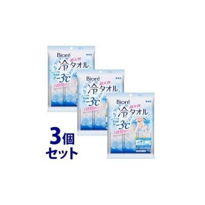 《セット販売》 花王 ビオレ 冷タオル 無香性 (5枚)×3個セット デオドラントシート 汗ふきシート