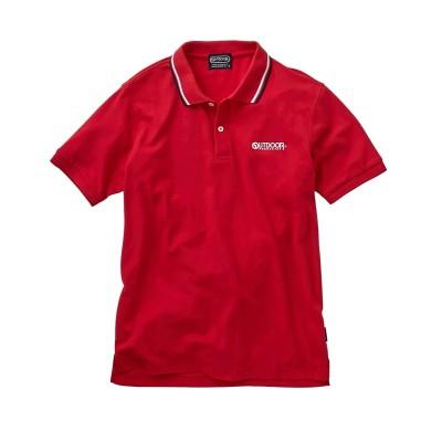 OUTDOOR PRODUCTS(アウトドアプロダクツ) 衿ライン ワンポイント刺しゅう半袖ポロシャツ ポロシャツ, Tops