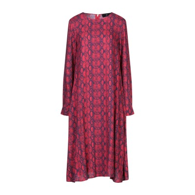 SH by SILVIAN HEACH 7分丈ワンピース・ドレス レッド XS レーヨン 100% 7分丈ワンピース・ドレス