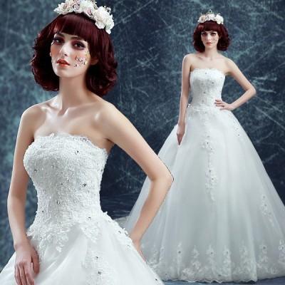 ウエディングドレス 安い 花嫁 ドレス 二次会 ウェディングドレス プリンセス 結婚式 披露宴 ブライダル ロングドレス エンパイア wedding dress 大きいサイズ