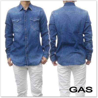 GAS JEANS ガスジーンズ メンズデニムシャツ KANT/6 / 151135 010355 ブルー