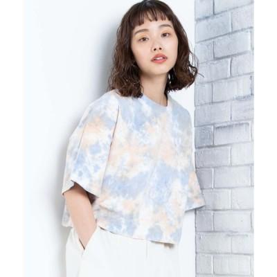【ウィゴー】WEGO/タイダイワイドショートTシャツ