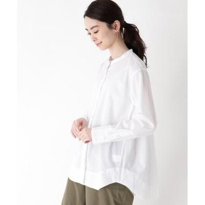 one'sterrace(ワンズテラス) バンドカラーフライフロントシャツ