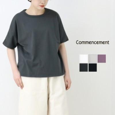 コメンスメント Commencement クルーネックドルマンショートスリーブTシャツ C-004 レディース 2021春夏 ワイド コットン 綿 ラフ カジュ