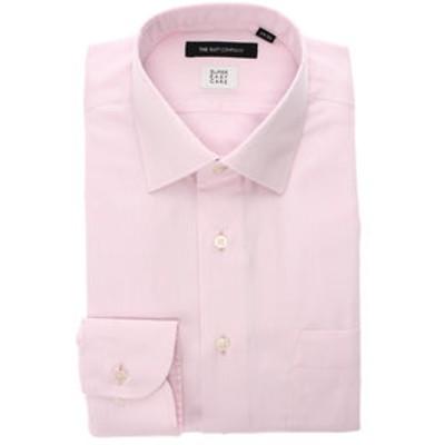 【SUPER EASY CARE】ワイドカラードレスシャツ 織柄 〔EC・BASIC〕