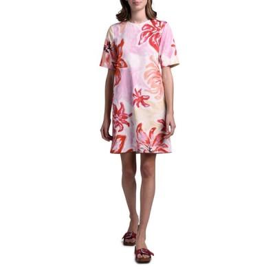 マルニ レディース ワンピース トップス Short-Sleeve Brushstroke Floral Dress