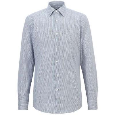 ヒューゴボス シャツ トップス メンズ BOSS Men's Jango Slim-Fit Shirt Navy