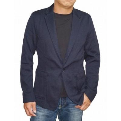 ハイダウェイ ニコル HIDEAWAYS NICOLE カット ジャケット 紺  9165-9903 メンズ 春物 秋物 テーラードジャケット ストレッチ ネイビー