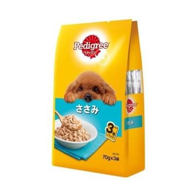 (まとめ)ペディグリー 成犬用 ささみ 70g×3袋 (ペット用品・犬フード)〔×48セット〕