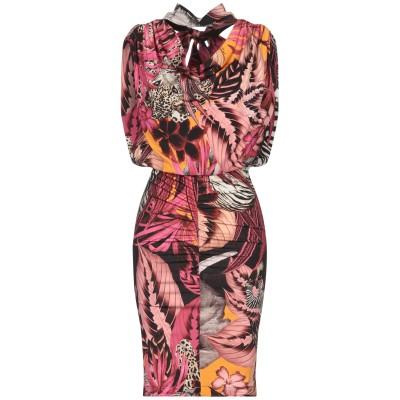 ジャストカヴァリ JUST CAVALLI ミニワンピース&ドレス ピンク 36 レーヨン 100% / アルミニウム ミニワンピース&ドレス