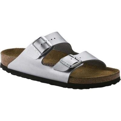 ビルケンシュトック レディース サンダル シューズ Arizona Soft Footbed Oil Leather Sandal Silver Birko-Flor™