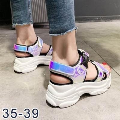 サンダル厚底スポサンスポーツサンダルビーサンレディースビーチサンダルシューズプラットフォーム靴夏物靴