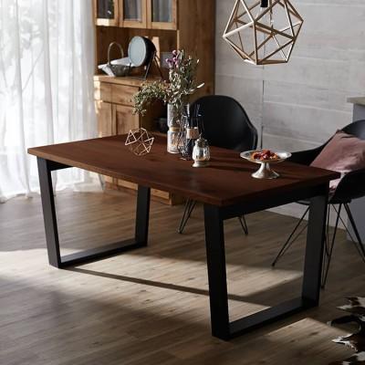 [幅160] ダイニングテーブル 単品 半完成品 天然木突板使用 国産 日本製