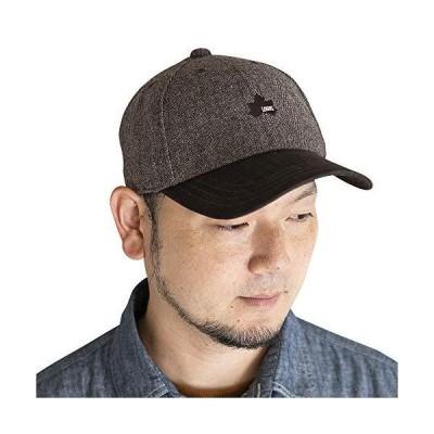 人気★LOGOS ロゴス ウール混 バイカラーキャップ [頭周り約57〜59cm/ブラウン] ベースボールキャップ 帽子 大きいサイズ フリーサイズ