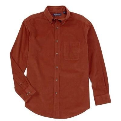 ランドツリーアンドヨーク メンズ シャツ トップス Long-Sleeve Solid Corduroy Sportshirt Brick Red