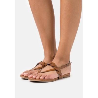 アンナフィールド レディース サンダル LEATHER - T-bar sandals - brown
