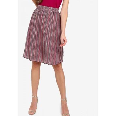 ザローラ ZALORA レディース ひざ丈スカート スカート Pleated Knee Length Skirt Pink/Multi