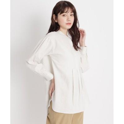 grove / 【S-LL】リネン混ヨーク切り替えシャツ WOMEN トップス > シャツ/ブラウス