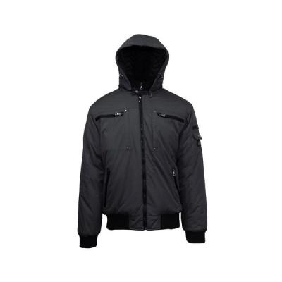 ギャラクシーバイハルビック ジャケット&ブルゾン アウター メンズ Spire By Galaxy Men's Heavyweight Moto Jacket Black