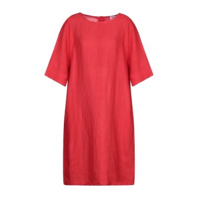 LFDL ミニワンピース&ドレス レッド S リネン 100% ミニワンピース&ドレス