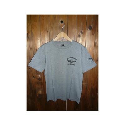 AVIREXアヴィレックス 6113367-016 S/S CREW NECK T-SHIRT U.S. AIR FORCE 半袖 U.S.エアフォース プリント入り クルーネック ミリタリー 薄手Tシャツ