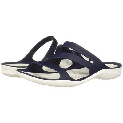 クロックス Swiftwater Sandal レディース サンダル Navy/White