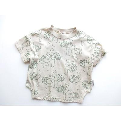 MAKE YOUR DAY フラミンゴTシャツ グリーン 100cm 110cm 120cm 130cm 子供服 Tシャツ トップス 2021SS