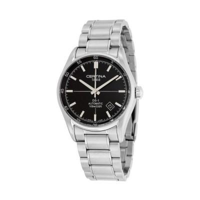 腕時計 サーチナ Certina DS 1 ブラック ダイヤル メンズ 腕時計 C006.407.11.051.00
