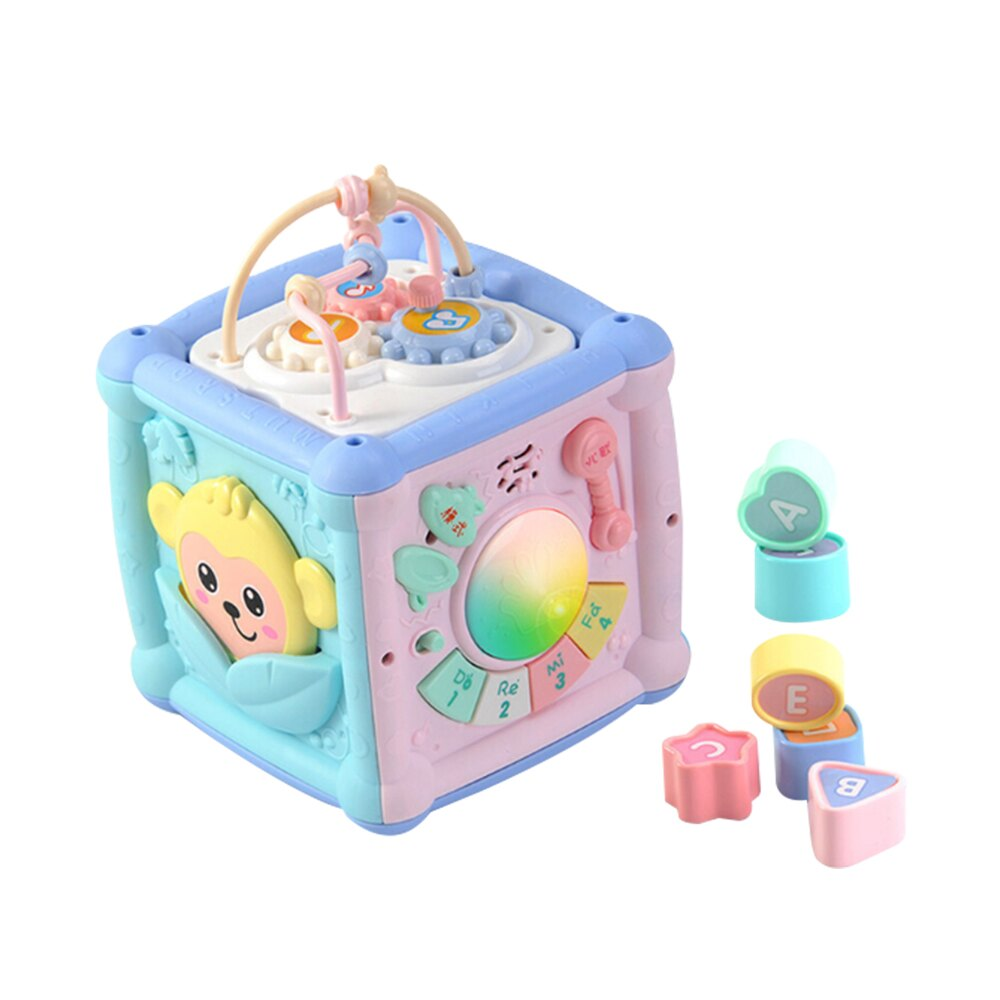 【滿額領卷折50】兒童六面盒安撫音樂燈光玩具 多功能手敲琴六面屋 JoyBaby