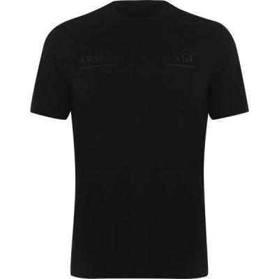 アルマーニ Armani Exchange メンズ Tシャツ トップス Box Tape T Shirt Black