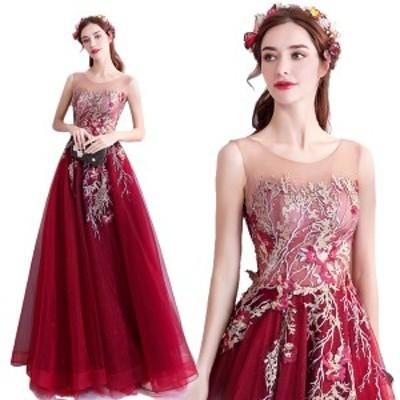 結婚式披露宴二次会パーティー発表会イベント用ファッションショウステージカラードレス ウエディングドレス ロング パーティードレス