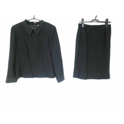 レリアン Leilian スカートスーツ サイズ13+ S レディース 黒【中古】20201116