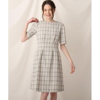 【クチュールブローチ】 ツイードワンピース レディース オフホワイト 40(L) Couture Brooch