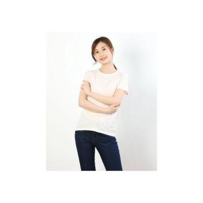 リネーム Rename ラウンドネックシンプルTシャツ (ライトピンク)