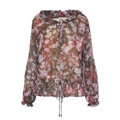 HAUTE HIPPIE ブラウス ファッション  レディースファッション  トップス  シャツ、ブラウス  長袖 ミリタリーグリーン