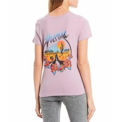 ボルコム レディース Tシャツ トップス A Midnite Ramble Short Sleeve Graphic Tee Violet