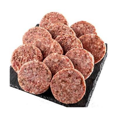 bonbori ( ぼんぼり ) 究極のひき肉で作る ハンバーグ ( 120g × 12個入り ソース無し / 牛肉100% / プレーン ) 無添加 /