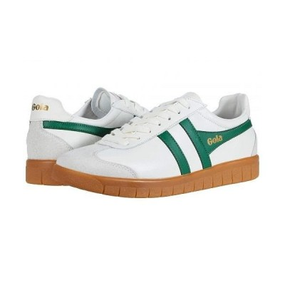 Gola ゴラ メンズ 男性用 シューズ 靴 スニーカー 運動靴 Hurricane Leather - Off-White/Green/Gum