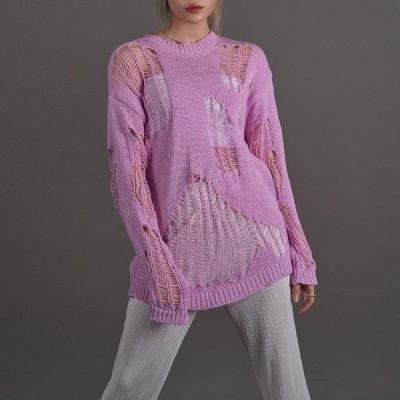 VANILLAMILK レディース ニット/セーター Vintage net knit
