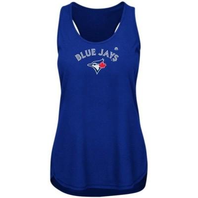 マジェスティック レディース タンクトップ トップス Toronto Blue Jays Majestic Women's Plus Size Racerback Tank Top