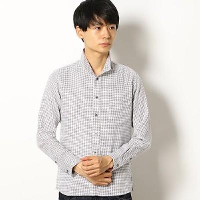 メンズメルローズ(MEN'S MELROSE)/ワッフルチドリスタンドカラーシャツ
