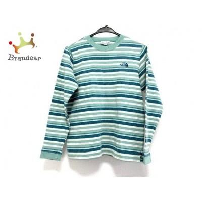 ノースフェイス 長袖Tシャツ サイズL レディース ライトグリーン×ダークグリーン×マルチ 新着 20200924