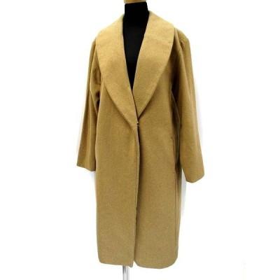 【中古】フレイアイディー FRAY I.D 羊毛 混 ショールカラー チェスターコート F ベージュ レディース 【ベクトル 古着】