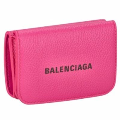バレンシアガ BALENCIAGA 財布 三つ折り ミニ財布 ロゴ ミニウォレット 三つ折り財布 593813 1IZ43 5660