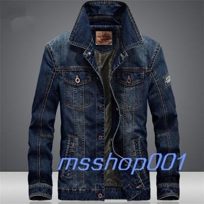 デニムジャケット メンズ Gジャン ブリーチ ヴィンテージ レトロ カジュアル ワンウォッシュ ジージャン 大きいサイズあり ストリート スリム 細身